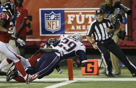 Blount is 15th in the NFL in yards per carry among qualified rushers. (Photo: Boston Globe)